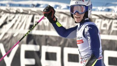 Bassino è terza nello slalom gigante parallelo di Sestriere. Battuta la Brignone