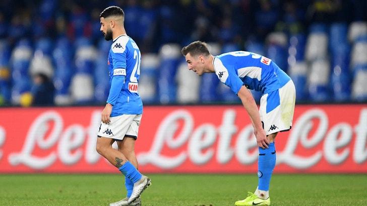 Napoli, la squadra interrompe il ritiro: domani la ripresa