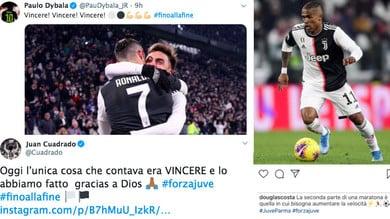 Juve, festa sui social network dopo la vittoria con il Parma