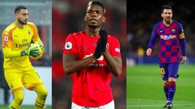 Da Pogba a Messi, i campioni che si svincoleranno nel 2021