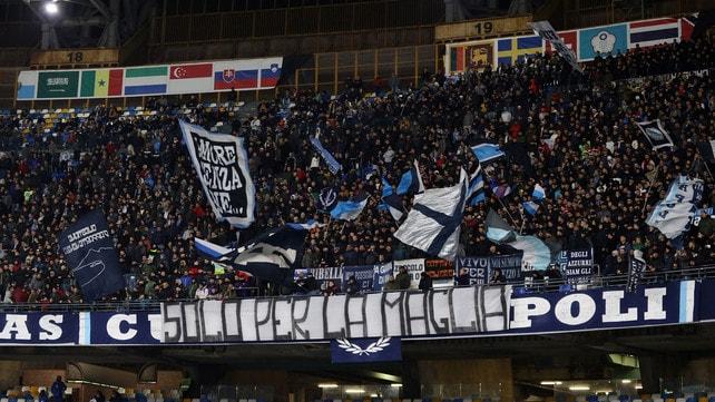 """Napoli, protesta in curva: """"Solo per la maglia"""""""