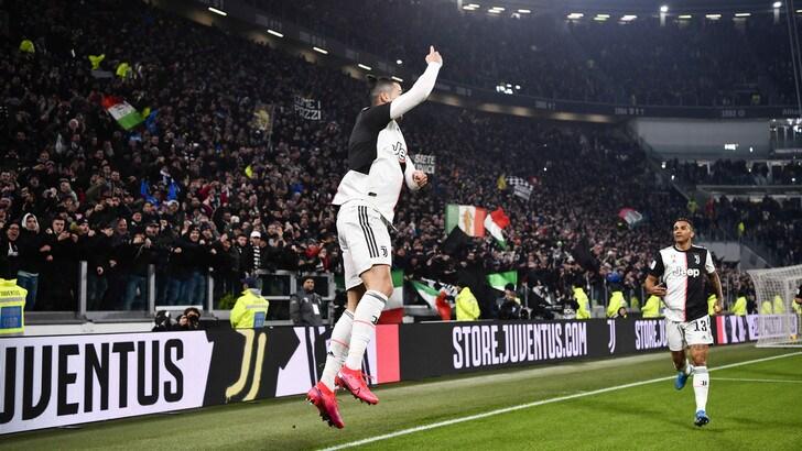 Juve show nel primo tempo: Roma eliminata, Ronaldo segna ancora
