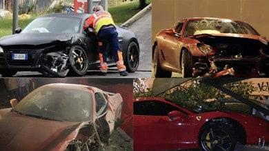 Auto distrutte dai calciatori: la top 10 dei peggiori incidenti