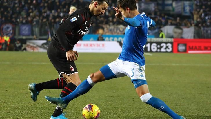 Brescia-Milan 0-1, il tabellino