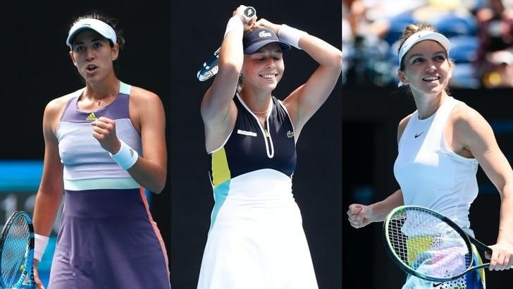 Halep, Muguruza e Kontaveit ai quarti dell'Australian Open