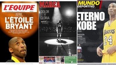 Kobe Bryant: la stampa estera ricorda la stella NBA