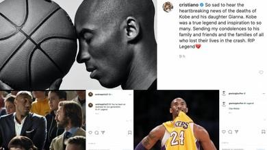 Da Cristiano Ronaldo a Buffon e Pirlo: il ricordo di Kobe Bryant