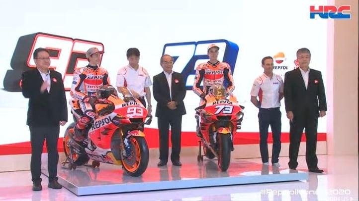 Honda: Marc e Alex Marquez presentano la RCV213 2020