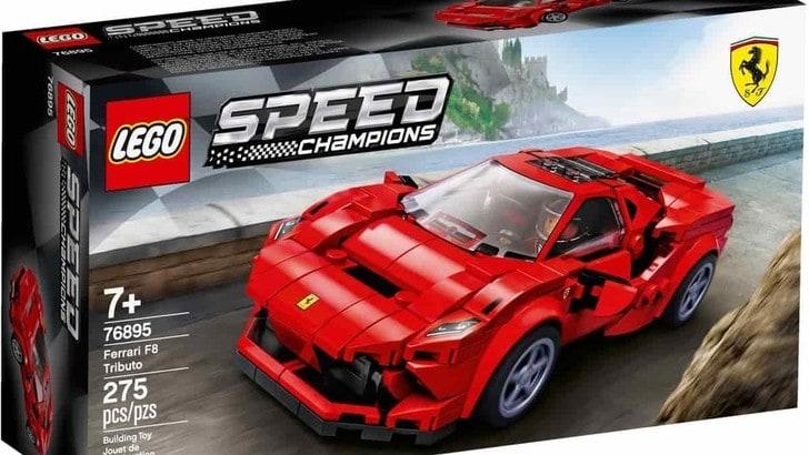 Ferrari F8 Tributo Lego Speed Champions, la V8 tutta a mattoncini