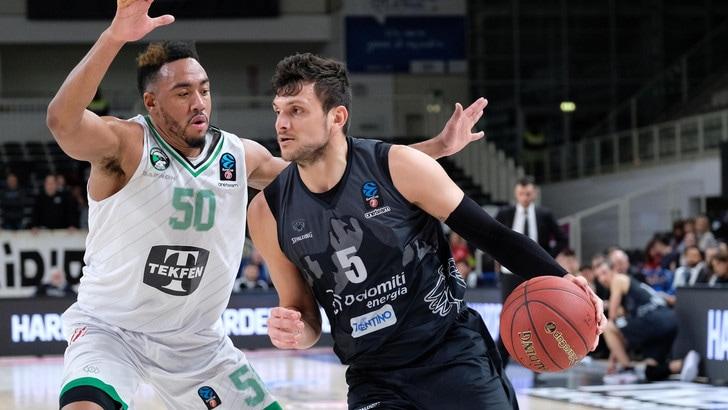 Trento, altro ko in Eurocup: vince il Darussafaka per 95-74