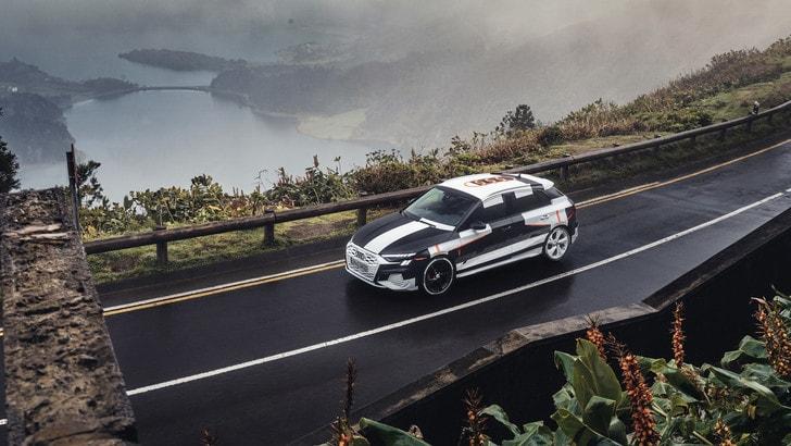 Nuova Audi A3 Sportback, il test del prototipo