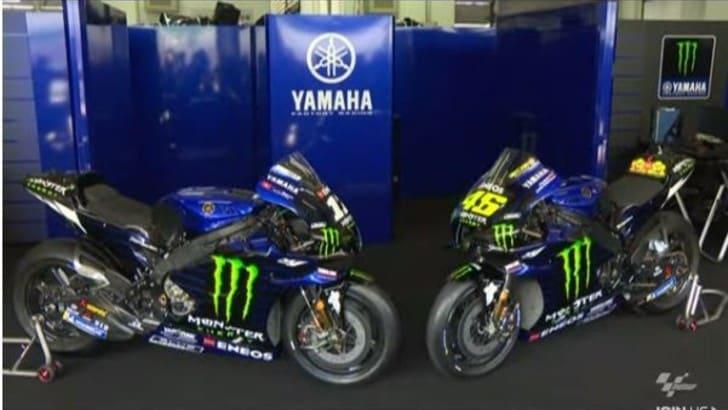 MotoGp: presentate le Yamaha di Rossi e Vinales