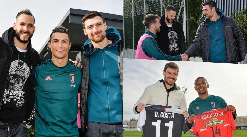 La Juve incontra la Lube Volley: Ronaldo con Juantorena e Anzani