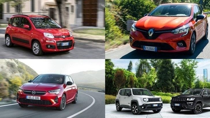 Top 10: le auto più acquistate in Italia a gennaio 2020