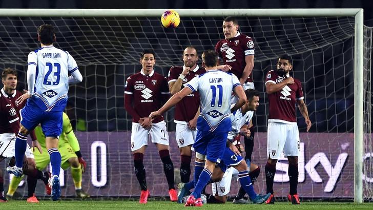 Disastro Toro, neanche Longo lo guarisce: la Samp vince 3-1