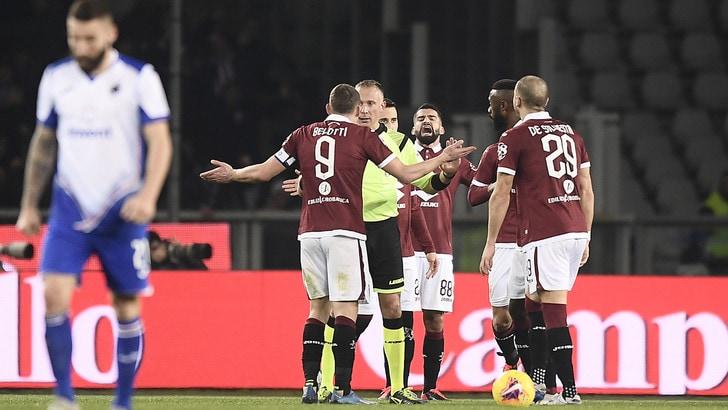 Torino-Sampdoria 1-3, il tabellino