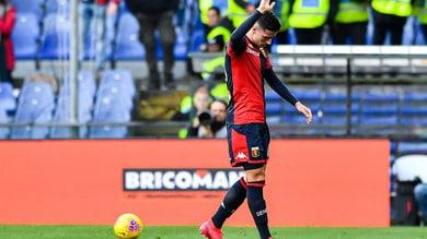Genoa, Ghiglione ha ripreso ad allenarsi in campo