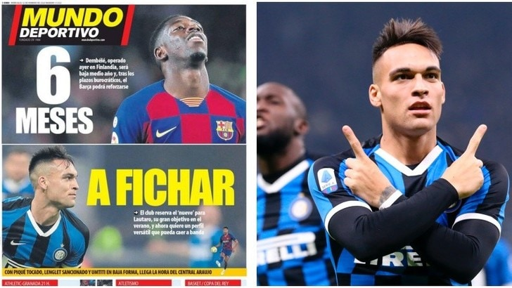 """Mundo Deportivo: """"Inter, assalto del Barcellona in estate per Lautaro Martinez"""""""