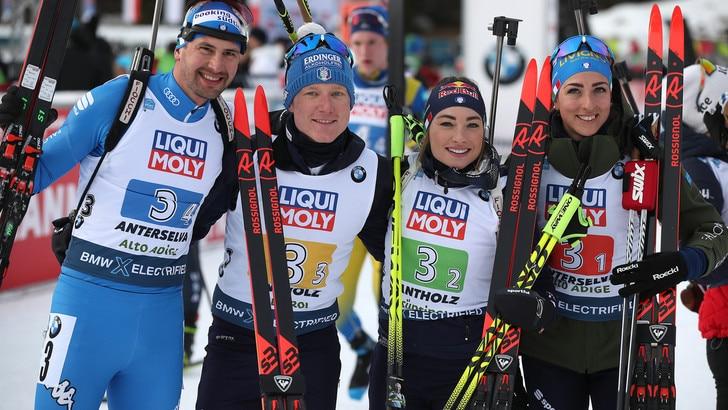 Mondiali biathlon, l'Italia vince l'argento nella staffetta mista