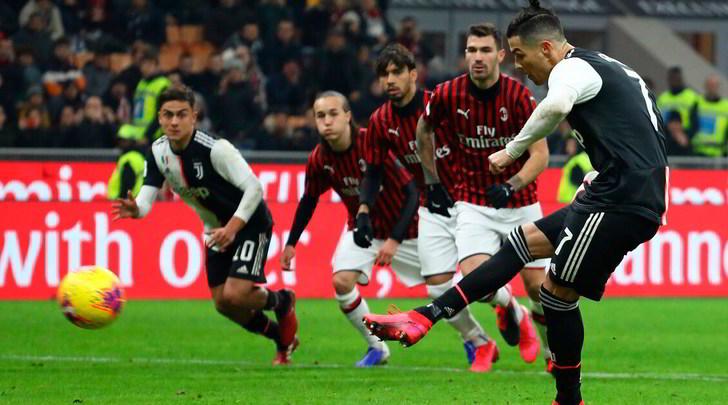 Milan-Juve 1-1: Ronaldo risponde a Rebic, la finale è più vicina