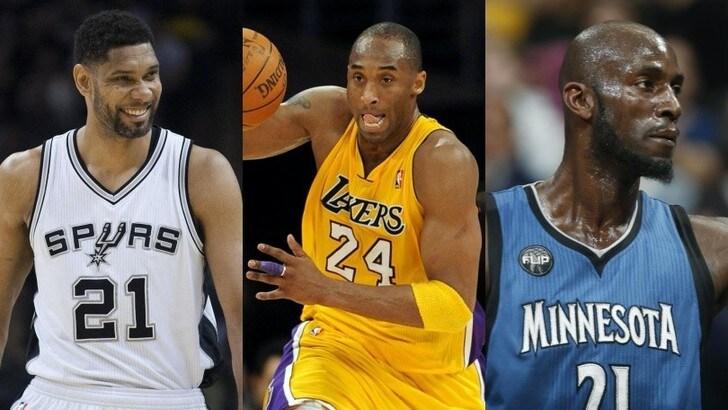 Ufficiale: Kobe Bryant, Tim Duncan e Kevin Garnett saranno introdotti nella Hall of Fame