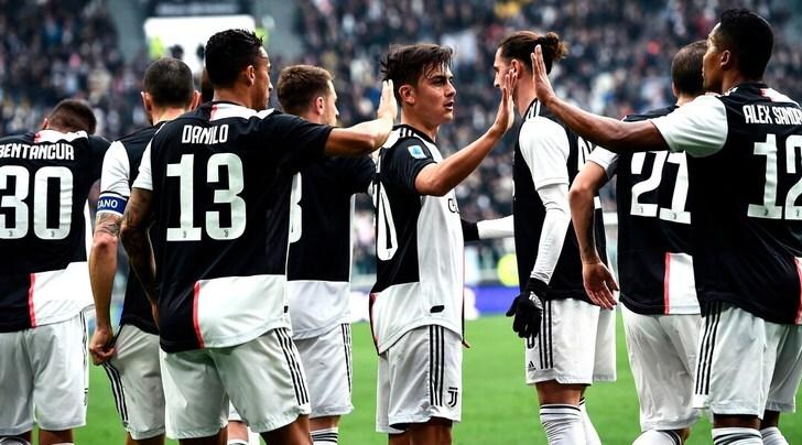 Serie A, Juve-Brescia 2-0: decidono Dybala e Cuadrado