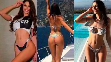 Antonella Fiordelisi super hot con la maglia della Juve