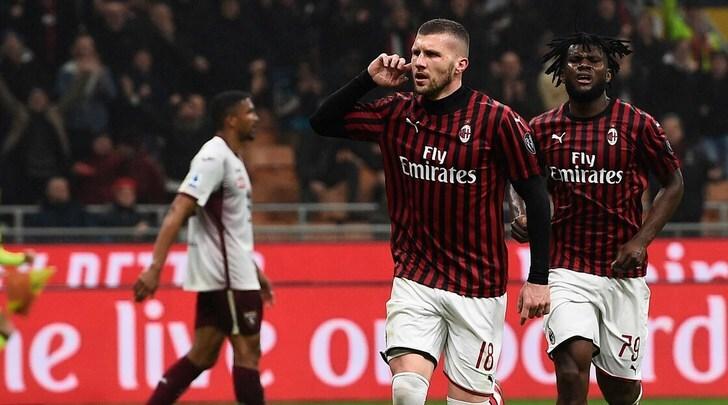 Milan-Torino 1-0, Rebic ancora in gol: Longo va ko
