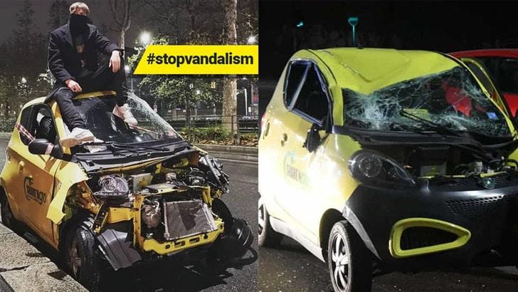 Sharengo si ferma a Milano a causa di vandalismo e conti in rosso