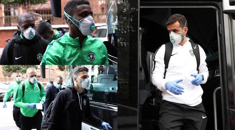 Ludogorets in ansia per il Coronavirus: a Milano con le mascherine