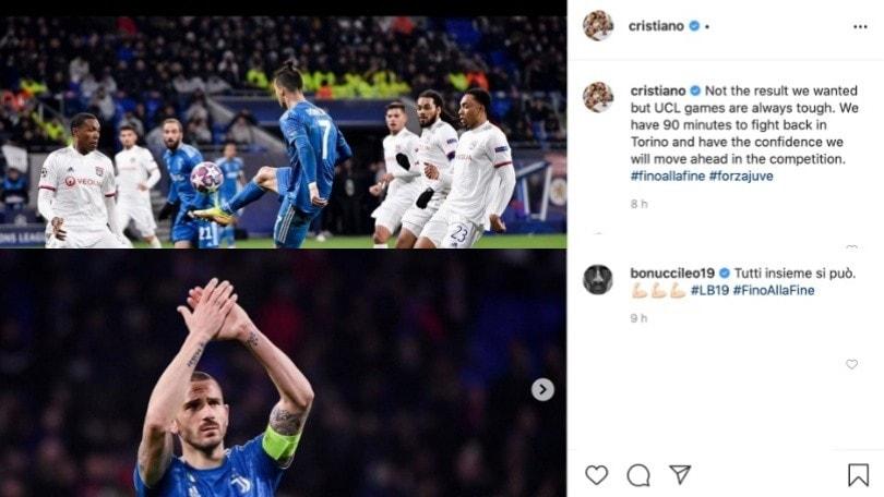 Lione-Juve, da Bonucci a Cristiano Ronaldo: la reazione dei bianconeri dopo il ko in Francia