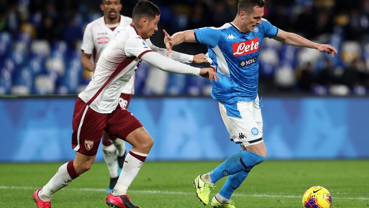 Napoli-Torino 2-1, il tabellino