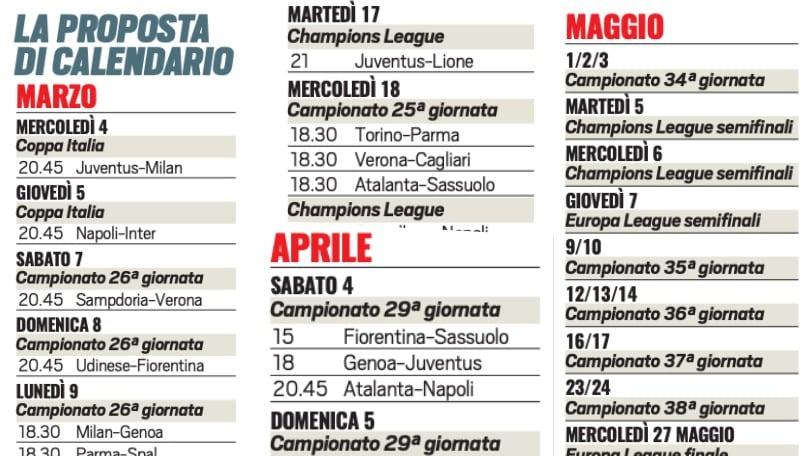 Juve Inter Lunedi 9 Marzo A Porte Aperte Ecco Tutte Le Possibili Date E Gli Orari Del Calendario Tuttosport