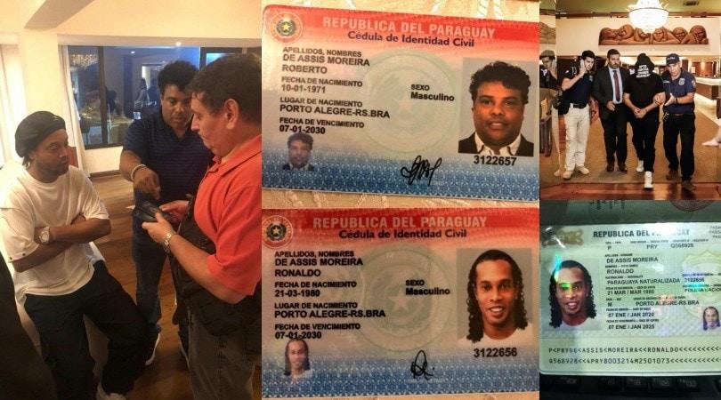Ronaldinho paraguagio, ecco i documenti falsi: arrestato