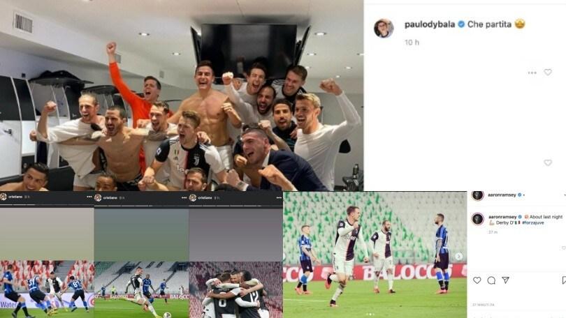 Juve-Inter, Ramsey e Dybala stendono Conte: che festa sui social!