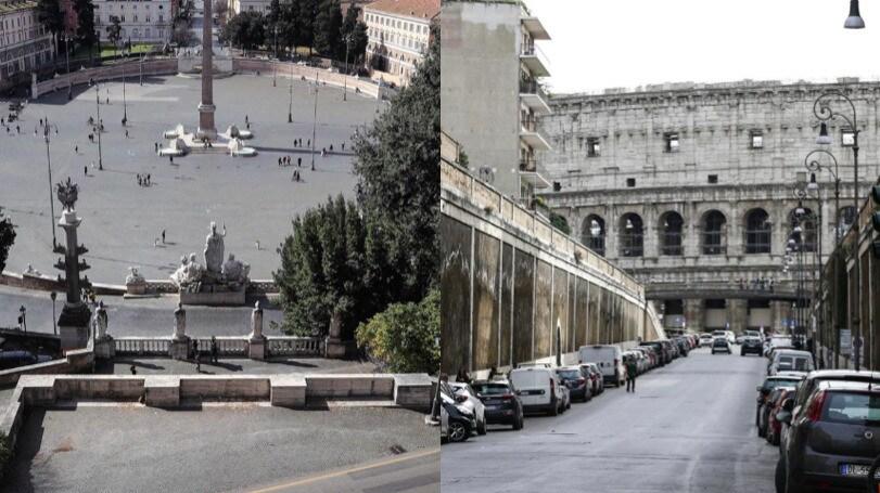 Roma deserta per il Coronavirus dopo il decreto