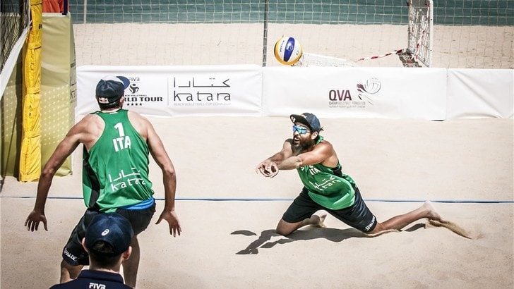 Beach Volley: a Doha Lupo-Nicolai cedono a Ehlers-Fluggen
