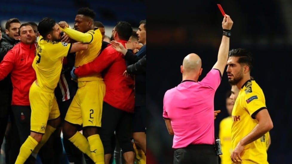 Il brutto fallo ai danni di Neymar da parte dell'ex centrocampista della Juve ha dato il via al parapiglia finale: i calciatori delle due squadre sono venuti in contatto e il tedesco si è beccato l'espulsione