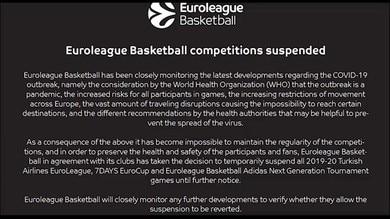 Basket, stop a Eurolega ed Eurocup
