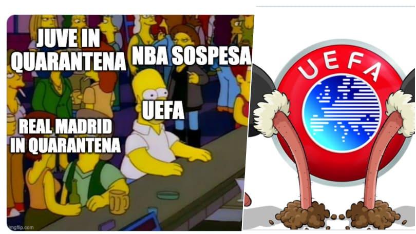 Incubo Coronavirus ma la Uefa continua a giocare: i social si ribellano