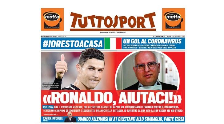 """Paolo Ascierto: """"Cristiano Ronaldo, facci l'assist"""""""