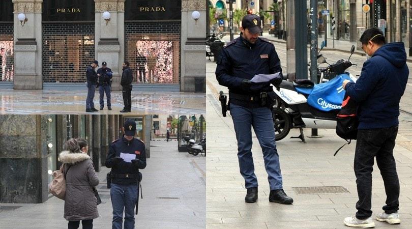 Coronavirus, a Milano controlli a tappeto anche per chi va a piedi