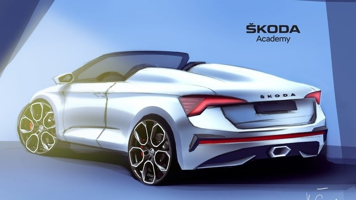 Skoda Scala speedster: i bozzetti del concept dell'Academy
