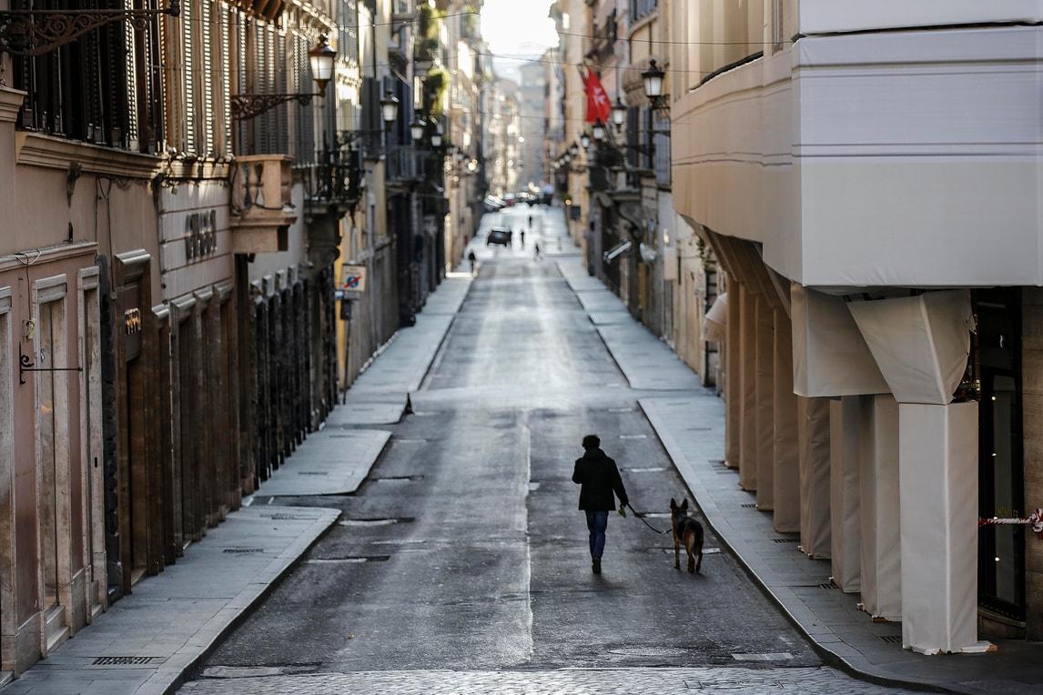 Roma, strade ancora vuote per l'emergenza Coronavirus