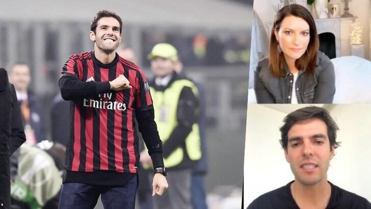 Kaká e l'inno del Milan in diretta con Laura Pausini. Poi l'appello all'Italia