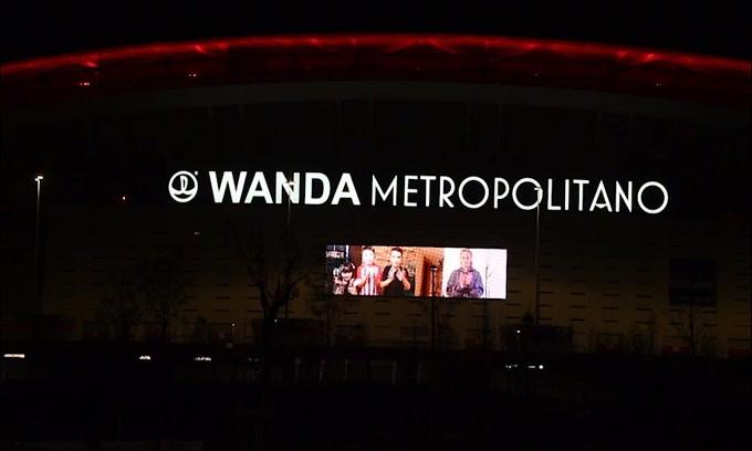 Il Wanda Metropolitano si unisce all'applauso per ringraziare i medici
