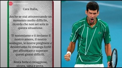 Djokovic, il messaggio agli italiani: