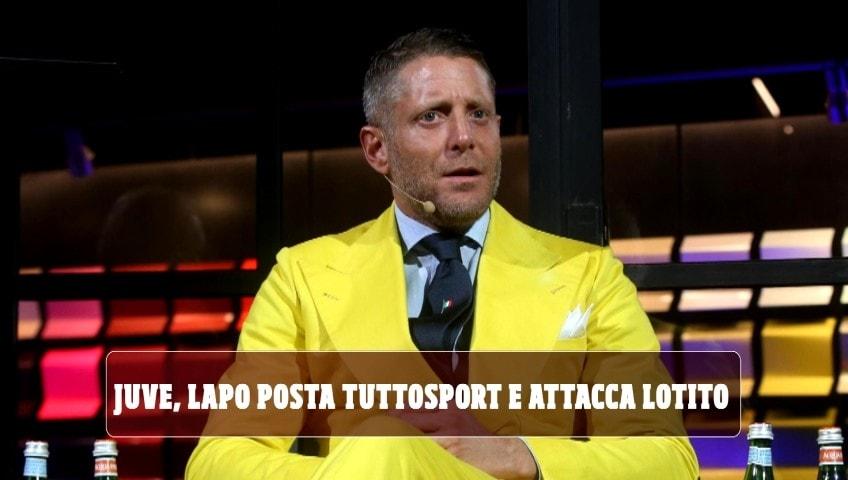 """Juve, Lapo posta Tuttosport e attacca Lotito: """"Hai una laurea in virologia o in statistica?"""""""