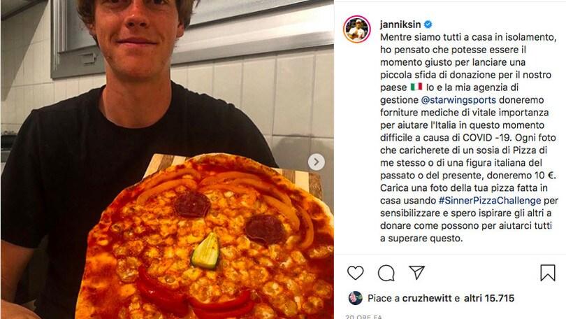 "Coronavirus, ecco la ""Pizza Challenge"" lanciata da Sinner"
