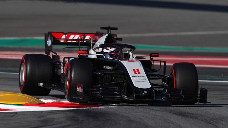 F1 Haas, Deletraz e Fittipaldi con Grosjean e Magnussen